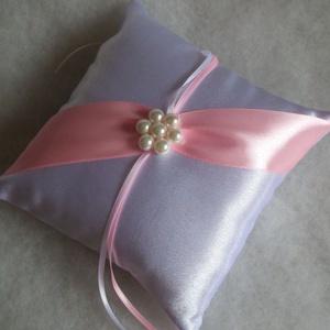 Gyöngyvirág  gyűrűpárna világos rózsaszín szalaggal, Táska, Divat & Szépség, Ruha, divat, Női ruha, Esküvő, Gyűrűpárna, Varrás, Gyöngyfűzés, gyöngyhímzés, A nagy nap legszebb kiegészítője lesz ez a gyönyörű, új, hófehér szatén selyem gyűrűpárna, világos r..., Meska