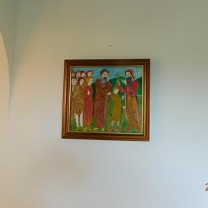 Sámuel királlyá keni Dávidot, Otthon & lakás, Képzőművészet, Festmény, Olajfestmény, Festészet, Miniatúra ihlette a festmény elkészítését. Furnérra, olajjal festettem. Bekeretezett kép, mérete 35x..., Meska