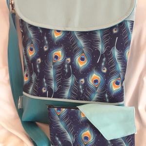 Textilbőr 3funkciós táska+neszesszer+maszk, Táska & Tok, Variálható táska, Varrás, Textilbőr 3funkciós táska,hordható háti/oldal/válltáskának.\nErős,strapabíró,mindennapos használatra ..., Meska