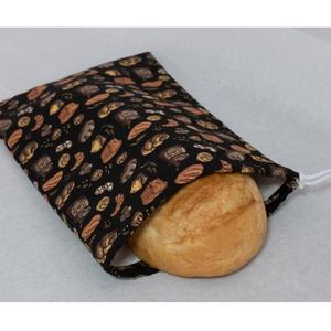 Kenyeres zsák, Táska & Tok, Bevásárlás & Shopper táska, Kenyeres zsák, Varrás, JELENLEG 3 DB VAN KÉSZLETEN.\nPraktikus és környezetbarát - összehúzható, PUL anyagból készült kenyer..., Meska