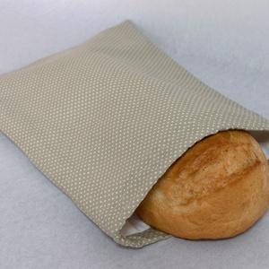 Kenyeres zsák, Táska & Tok, Bevásárlás & Shopper táska, Kenyeres zsák, Varrás, Praktikus és környezetbarát - összehúzható, PUL anyagból készült kenyeres zsák.\n\nKülső anyaga pöttyö..., Meska