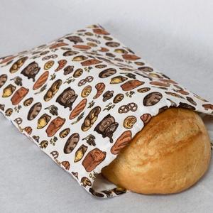 Kenyeres zsák, Táska & Tok, Bevásárlás & Shopper táska, Kenyeres zsák, Varrás, Praktikus és környezetbarát - összehúzható, PUL anyagból készült kenyeres zsák.\n\nKülső anyaga mintás..., Meska