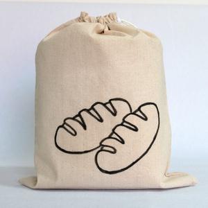 Kenyeres zsák, Táska & Tok, Bevásárlás & Shopper táska, Kenyeres zsák, Varrás, Festett tárgyak, Praktikus és környezetbarát - összehúzható, PUL anyagból készült kenyeres zsák.\n\nKülső anyaga natúr ..., Meska