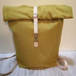 Roll up zöld színű hátitáska, Táska, Divat & Szépség, Táska, Hátizsák, Varrás, Roll up zöld színű hátitáska. A táska bevasalható merevítővel van megerősítve. Pántja heveder, állít..., Meska