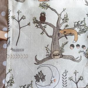 Erdei állatkás készségfejlesztő címkekendő/rongyi - játék & gyerek - 3 éves kor alattiaknak - alvóka & rongyi - Meska.hu