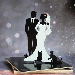Egyedi esküvői tortadísz 1-3 cicával Esküvői tortadísz/csúcsdísz cicásoknak Macskás esküvői tortadísz, Esküvő, Esküvői dekoráció, Nászajándék, Menyasszonyi ruha, Famegmunkálás, Festett tárgyak, Egészen egyedi tortadísz, ami csak a tiétek. Menyasszony és vőlegény három cicával. A cicusok száma ..., Meska