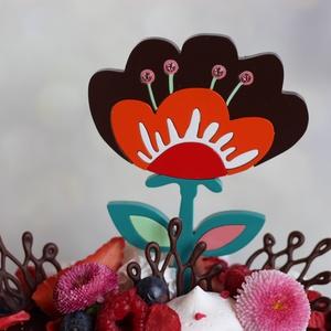 Virág tortadísz / hűtőmágnes Anyáknapi / Születésnapi tortadísz Nőnapi tortadísz Tavaszi virág Színes favirág, Otthon & Lakás, Konyhafelszerelés, Sütidísz, Egy csodaszép színes tavaszi virág, ami soha nem hervad el. Anyáknapjára, nőnapra, tavaszi születésn..., Meska