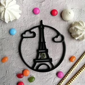 Eiffel torony születésnapi  tortadísz /hűtőmágnes Franciás tortadekoráció Születésnapi tortadísz, Otthon & Lakás, Sütidísz, Konyhafelszerelés, Famegmunkálás, Festett tárgyak, Meska
