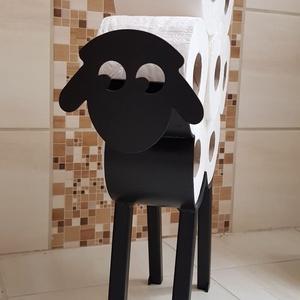 Bari Wc papír tartó, Otthon & Lakás, Fürdőszoba, Fürdőszobai dekoráció, Fémmegmunkálás, Lánykáim fürdőszobájába készítettem ezt a kis vasból készült bari formájú wc papírtartót.\nVidám szín..., Meska