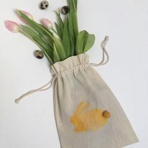 Hepphabit  Húsvéti Ajándék zsák, Gyerek & játék, NoWaste, Bevásárló zsákok, zacskók , Varrás,  pamutvászon húsvéti nyuszi mintájú ajándékzsák - nyuszi minta kérhető más színnel\n\nmérete:\nkb 24x32..., Meska