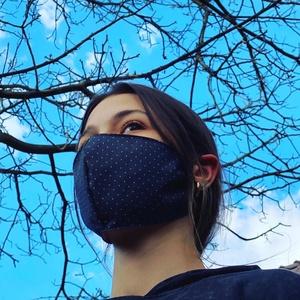 Maszk - egészségügyi maszk, 2 rétegű, mosható, filterezhető 100%pamutvászon maszkok. gumival és rugós gumiszorítóval.\nGYermek, f..., Meska