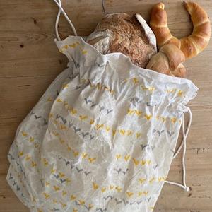 Hepphabit kenyeres zsák/kenyérzsák, Kenyeres zsák, Bevásárlás & Shopper táska, Táska & Tok, Varrás, Egyedi, saját készítésű pecsétekkel, kézzel nyomdázott, kívül viaszosvászon belül pamutvászon kenyer..., Meska