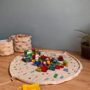 Play and go játszószőnyeg, Játszószőnyeg, 3 éves kor alattiaknak, Játék & Gyerek, Festett tárgyak, \n\nKétrétegű Összehúzható játszószőnyeg, az egyszerűbb összepakolásért!\n\n átmérője - 100cm\n\n..., Meska