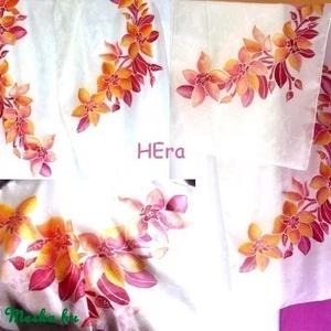 Orhideás stóla  (Hera) - Meska.hu