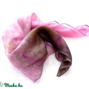Antik rózsakert hernyóselyem kendő (Hera) - Meska.hu