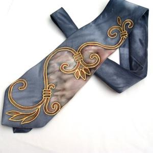 Kovácsoltvas selyem nyakkendő  (Hera) - Meska.hu