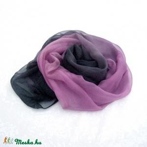 Pink Tango hernyóselyem chiffon stóla (Hera) - Meska.hu