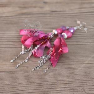 Nyár rojtos pink fülbevaló (Hera) - Meska.hu