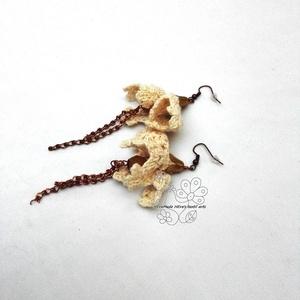 Bézs csipke harangvirág fülbevaló (Hera) - Meska.hu