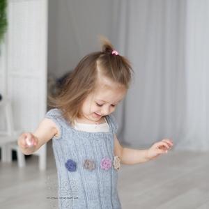 Kötött gyapjú kislány tunika mellény (Hera) - Meska.hu