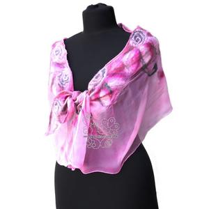 Pink virágos nuno nemez sál (Hera) - Meska.hu