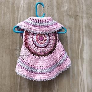 Mandala rózsaszín kislány mellény (Hera) - Meska.hu