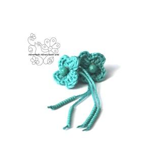 Türkiz kisvirág bedugós fülbevaló (Hera) - Meska.hu