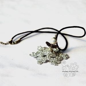 Ezüst csipke angyal nyaklánc  (Hera) - Meska.hu