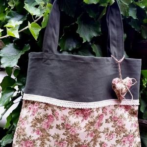 -25% ---> Rose Garden with Heart. Shopper + levendulapárna (herisson) - Meska.hu