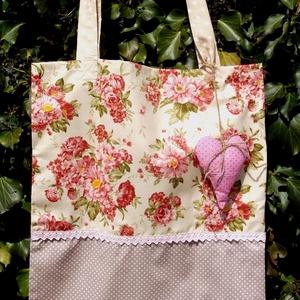 Scent of Flowers. Shopper. Levendulás szívvel! (herisson) - Meska.hu
