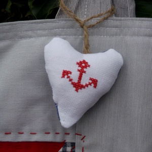 -20% - - - -> THE ANCHOR. Patchwork shopper tengerész stílusban. (herisson) - Meska.hu