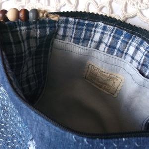 Sashiko. Jeans. Kozmetikai táska/pipere. (herisson) - Meska.hu