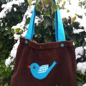I LOVE COLOURS. Kék maradas shopper.  (herisson) - Meska.hu