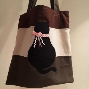 Fusion 20. Fekete macskás. Shopper. (herisson) - Meska.hu