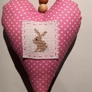 BUNNY LOVE. Szív alakú függődísz (herisson) - Meska.hu