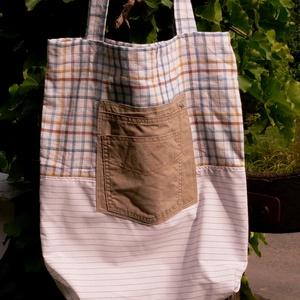 FUSION 28. Vagány shopper, akár fiúknak is!, Táska & Tok, Shopper, textiltáska, szatyor, Bevásárlás & Shopper táska, Varrás, Újrahasznosított alapanyagból készült termékek, Meska