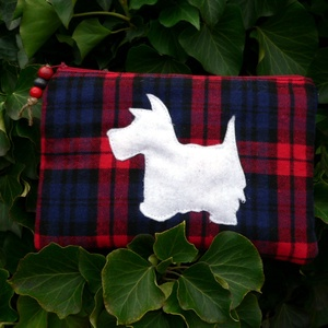 I LOVE SCOTLAND. Westie-s kozmetikai táska/pénztárca. - Meska.hu