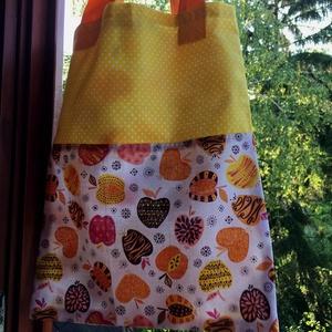 I LOVE COLOURS. Almás mini-shopper., Shopper, textiltáska, szatyor, Bevásárlás & Shopper táska, Táska & Tok, Varrás, Újrahasznosított alapanyagból készült termékek, Jól pakolható kis szatyor tízórainak-uzsinak vagy kisebb vásárlásokhoz.\n\nNagyon dekoratív darab.\n\nBé..., Meska