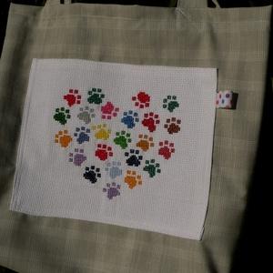 I LOVE CATS. Vidám cicamancsos/kutyamancsos shopper. (herisson) - Meska.hu