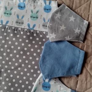 GLITTER BUNNIES. Mini-shopper választható maszkkal :), Táska & Tok, Bevásárlás & Shopper táska, Shopper, textiltáska, szatyor, Varrás, Amerikai designer textil felhasználásával készült\n\n30 x 28 cm-es pici shopper tízórainak vagy\n\n-----..., Meska
