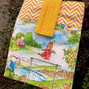STORYBOOK. Kedves  könyv védő tok/könyvszütyő/védőtok/könyvtasak/könyvölelő (akár e-booknak, tabletnek is :), Táska & Tok, Laptop & Tablettartó, Ebook & Tablet tok, Varrás, Biztonságos helyen tárolható-szállítható az épp olvasott könyve(d)!\n\nAmerikai designer textilek felh..., Meska