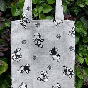 I LOVE DOGS. Mopszos shopper. , Táska & Tok, Bevásárlás & Shopper táska, Shopper, textiltáska, szatyor, Varrás, Meska