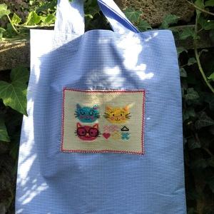 I LOVE COLOURS and CATS. Shopper., Táska & Tok, Bevásárlás & Shopper táska, Shopper, textiltáska, szatyor, Hímzés, Újrahasznosított alapanyagból készült termékek, Meska