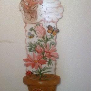 MAGASSÁGMÉRŐ Macis virágos, Gyerek & játék, Dekoráció, Otthon & lakás, Baba-mama kellék, Lakberendezés, Festészet, Famegmunkálás, Hermaresz dekor\n\n\nMesefigurás fali magasságmérő egyedi készítésű!\n\n\nFa alapanyagból készült egyedi f..., Meska