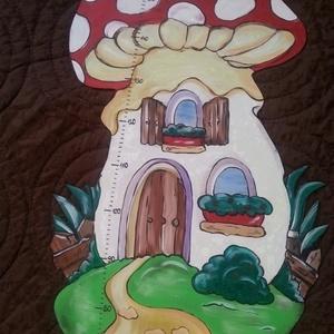 MAGASSÁGMÉRŐ Gomba, Gyerek & játék, Dekoráció, Otthon & lakás, Baba-mama kellék, Lakberendezés, Festészet, Famegmunkálás, Hermaresz dekor\n\n\nMesefigurás fali magasságmérő egyedi készítésű!\n\n\nFa alapanyagból készült egyedi f..., Meska