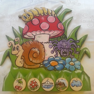 Óvodai Napos tábla polccal (hermareszdekor) - Meska.hu