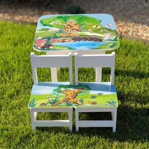 Asztal és szék, Otthon & lakás, Bútor, Asztal, Famegmunkálás, Festészet,                        Asztal és szék\n\n                       Az aukció tárgya\n          1 db asztal..., Meska