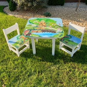 Asztal és szék (hermareszdekor) - Meska.hu