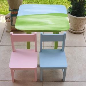 Asztal és szék, Asztal, Bútor, Otthon & Lakás, Famegmunkálás, Festészet,                        Asztal és szék\n\n                       Az aukció tárgya\n          1 db asztal..., Meska