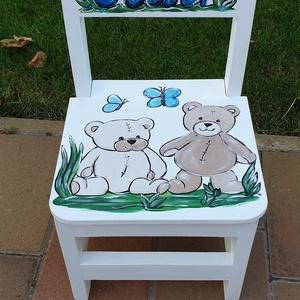 Gyerek szék, Szék & Fotel, Bútor, Otthon & Lakás, Famegmunkálás, Festészet,  szék\n\nAz aukció tárgya  1 db szék\nFenyő alapanyagból készült egyedi festéssel .\n\n\nErős masszív időt..., Meska
